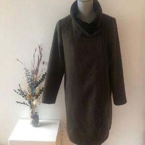 Babaton Wool Blend Zip Up Jacket